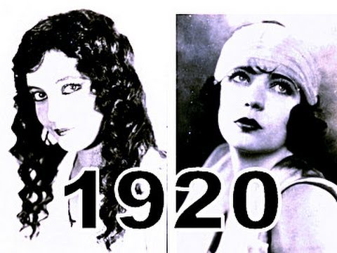 Most Beautiful Silent Movie Stars Women 1920's Hairstyles Fashion Twenties Hair Cigarette Cards video