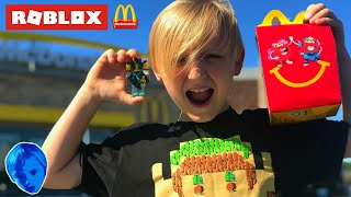I GOT A ROBLOX TOY IN MY MCDONALD'S HAPPY MEAL!!??