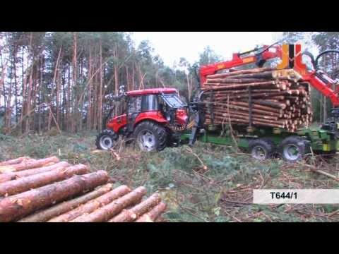 Ciągnik Pronar P7 5122 wersja leśna Przyczepa Pronar T644/1
