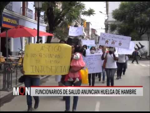 04/03/2015: 19:34 FUNCIONARIOS DE SALUD ANUNCIAN HUELGA DE HAMBRE