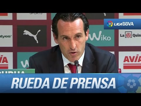 Rueda de prensa de Unai Emery tras el SD Eibar (1-1) Sevilla FC