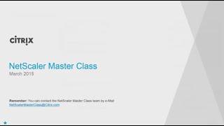 NetScaler Master Class   March 2015 04 03 2015 18 00