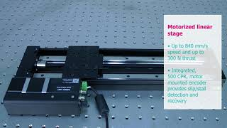X-LRQ Motorized linear stage with built-in controllers | Zaber | Laser 2000