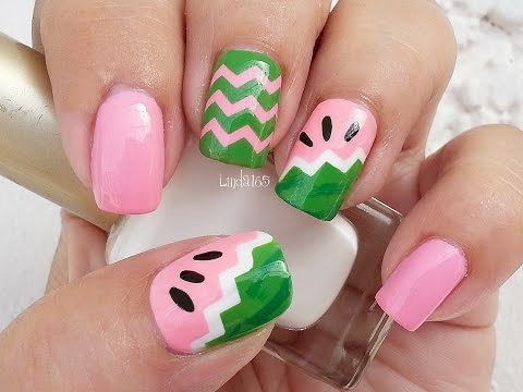 Nail Art - Fruit Series Watermelon Nails