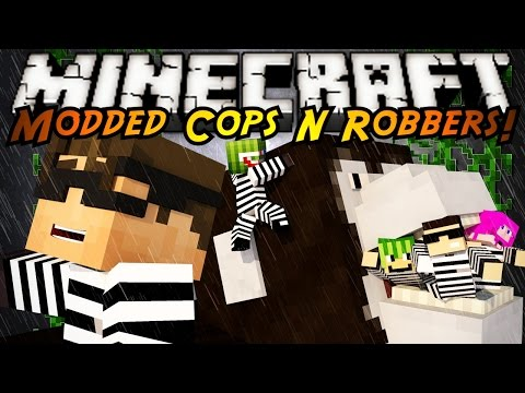 Minecraft Mini-Game : MODDED COPS N ROBBERS! KING KONG!