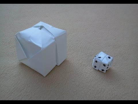 Tutorial Cubo o dado de papel - How to make an origami cube or dice