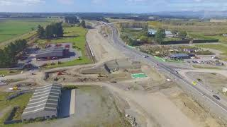 Christchurch Southern Motorway – Stage 2, April 2019 drone footage