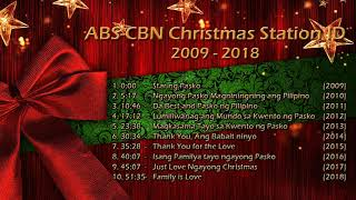 ABS CBN Christmas Station ID   Christmas Songs Non Stop Compilation (2009 2018)