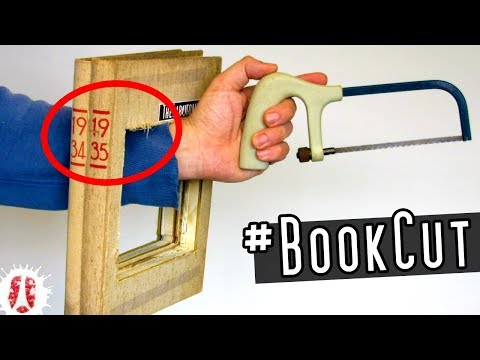 Can You Cut Paper With A Saw? HOW TO Cut Paper And Books The Easy Way #DIY #HOWTO
