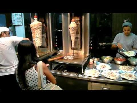 Паттайя Тайланд Шаурма, Thailand South Pattaya Tai Street Shawarma Shop FullHD 1080p