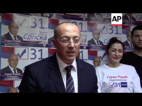 Hardline Serb claims victory in election for mayor of tense Kosovo town