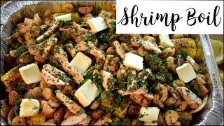 Cajun Style Seafood Boil | Shrimp, Corn, Onions, Red Potatoes, Chicken, Sausage + Rice | QB Kitchen