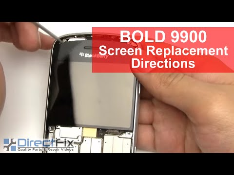 Blackberry Bold 9900 Screen Replacement Directions