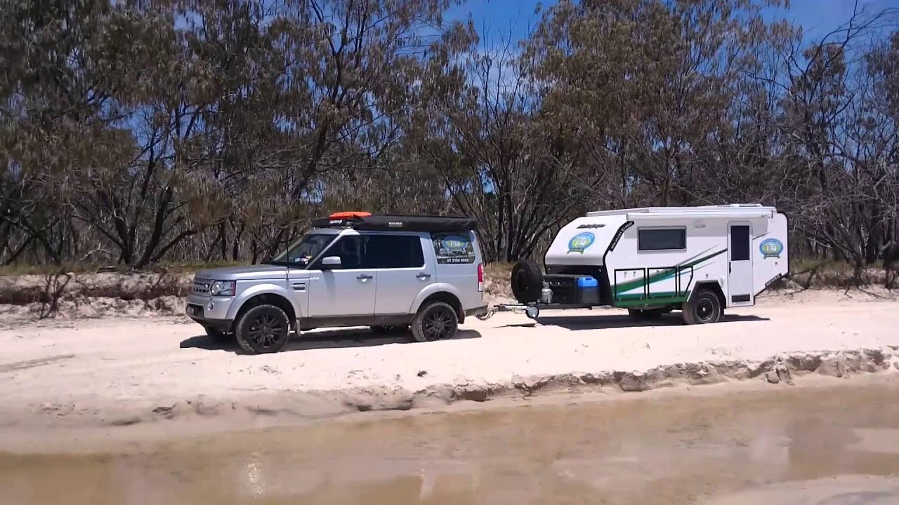 Rhinomax new Discovery Hybrid Off Road caravan on sand - YouTube