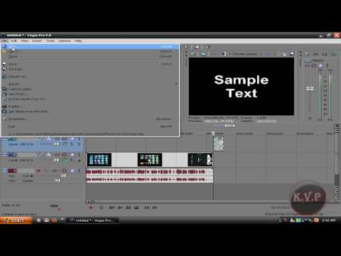 Sony Vegas default settings Fix any problem