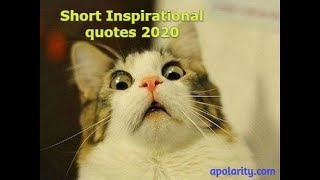 Short inspirational quotes 2020