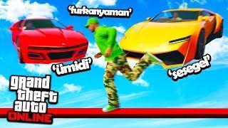 SÜPER ARABALAR VS KOŞUCULAR !! GTA 5 Online EKİP ! Furkan Yaman ! Sesegel ! Ümidi