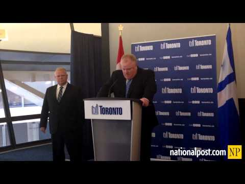 Rob Ford reacts to death of Jim Flaherty