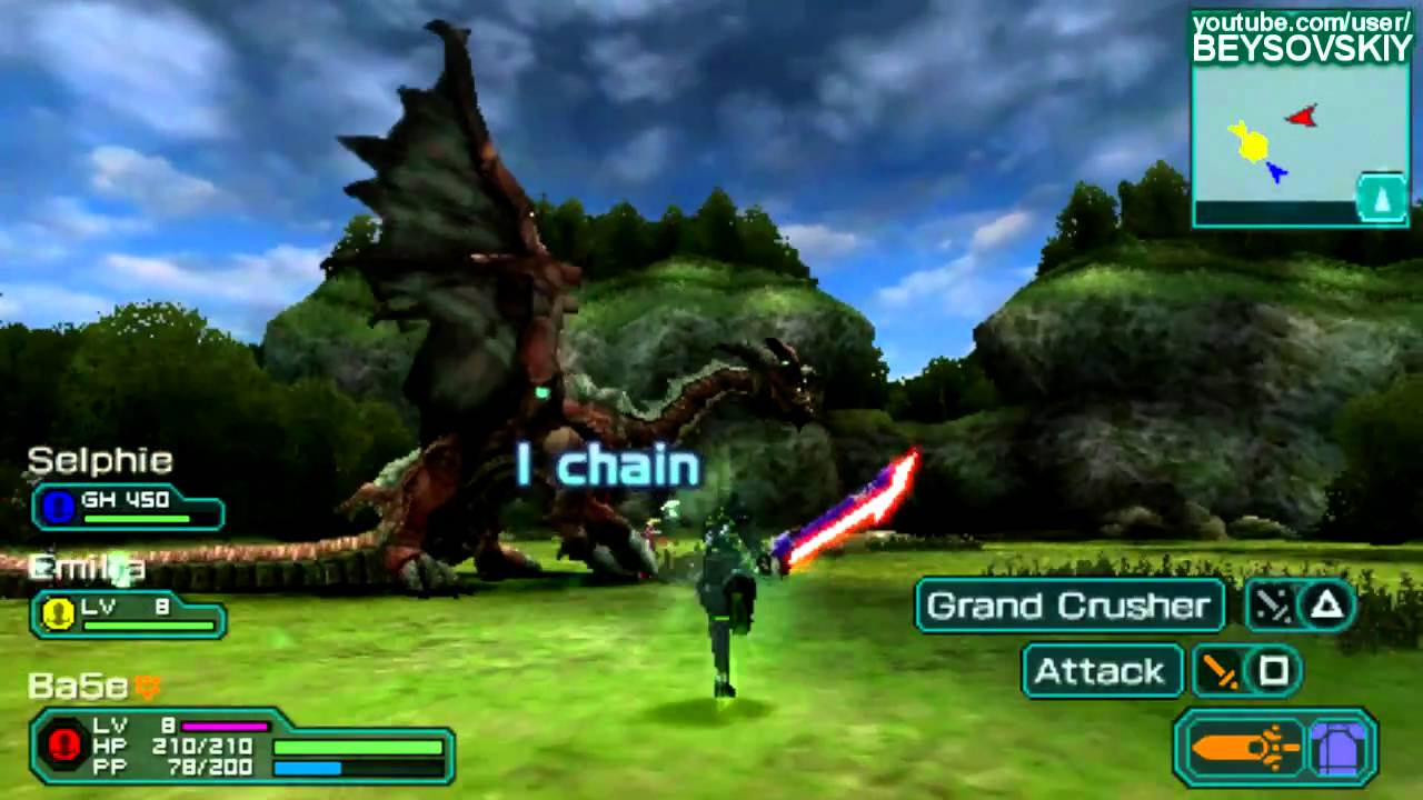 [PSP] Phantasy Star Portable 2 Gameplay [ENG] - YouTube