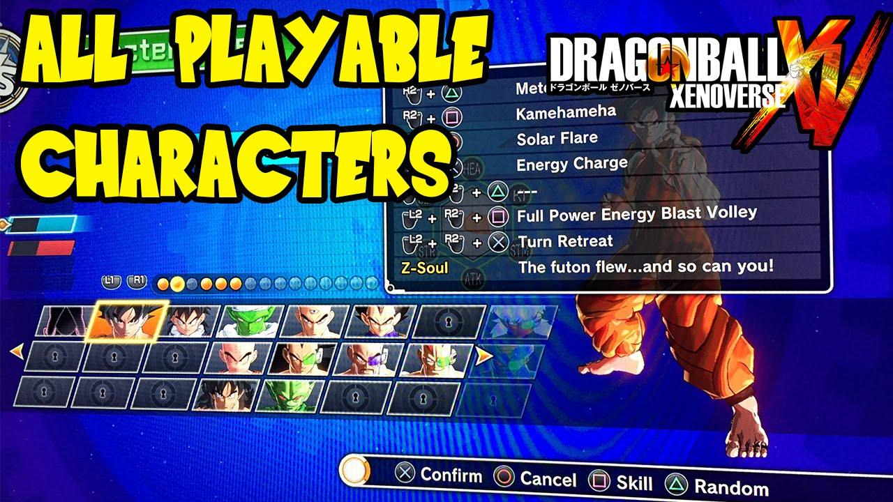 Dragon Ball Xenoverse gt Characters Dragon Ball Xenoverse All