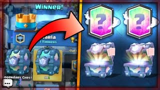 WHAT?! x2 LEGENDARY CHEST DROP! Clash Royale OPENING FREE LEGENDARY CHEST