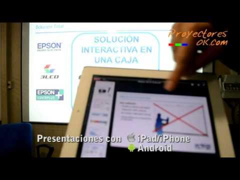 Proyector interactivo Epson EB-475Wi y Epson EB-485Wi