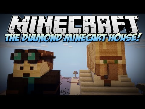Minecraft   THE DIAMOND MINECART (& Trayaurus) HOUSE!   Build Showcase