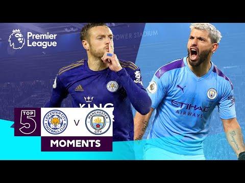 Leicester vs Manchester City  Top 5 Premier League Moments  Vardy, Aguero, Mahrez