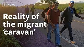 On the road with the Mexico migrant caravan