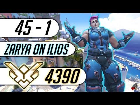 [Overwatch] Harbleu Grandmaster Zarya Ilios Ranked 4390 SR