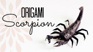 Making Of Origami Scorpion (time Lapse)