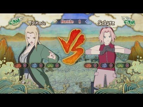 Naruto Shippuden: Ultimate Ninja Storm 3, Lady Tsunade VS Sakura Haruno!