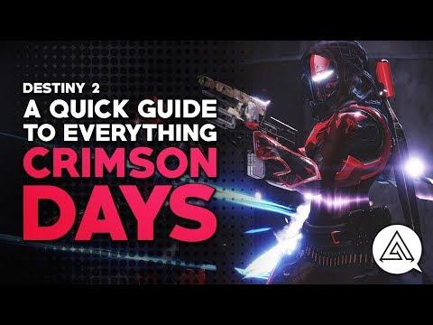 DESTINY 2 | A Quick Guide to Everything Crimson Days