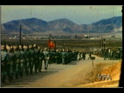 Korean War home movies Red Cross Nurse Seoul, Pusan 8057th AU