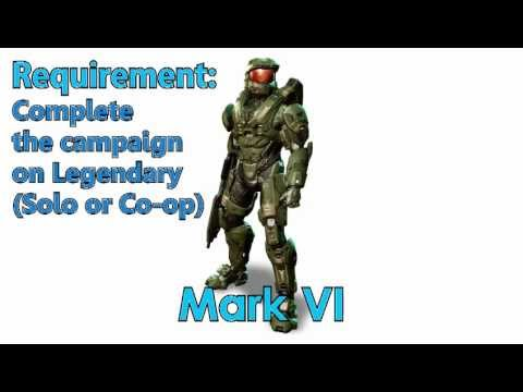 Halo 4 How to get ALL Armor, Visor Colors and Stances! (With interactive table of contents!)