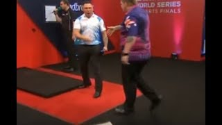 Gerwyn Price vs. Corey Cadby Incident - 2017 PDC World Series