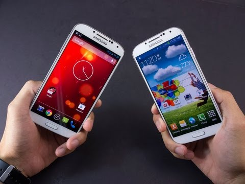 Samsung Galaxy S4 Google Play Edition vs Samsung Galaxy S4