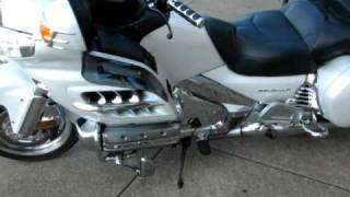 2007 Pearl White Goldwing, all the chrome extras for sale