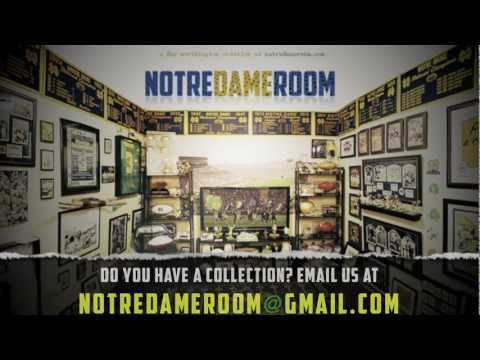 Notre Dame Football Memorabilia Room video