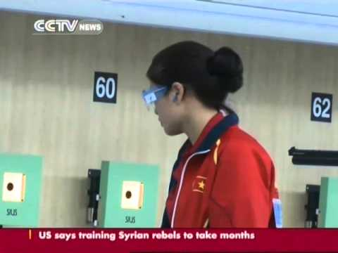 China wins the first gold of the 17th Asian Games in the women's 10m air pistol team event