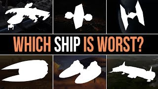 Which Star Wars Faction has the WORST SHIP? | Factions Compared ft. Bombastic