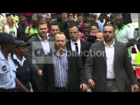 SOUTH AFRICA: OSCAR PISTORIUS ARRIVAL (FRIDAY)
