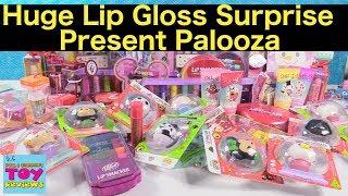 Lip Smackers Huge Surprise Present Disney Tsum Tsum Lip Gloss Palooza | PSToyReviews
