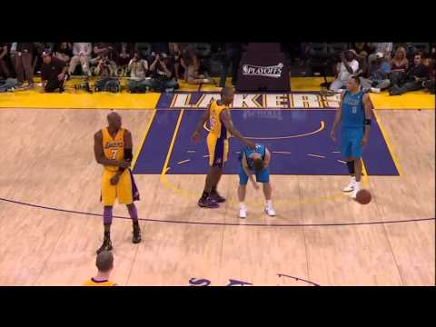 Ron Artest ejected after stupidly foul on JJ Barea (NBA Playoffs 2011 - Game 2)