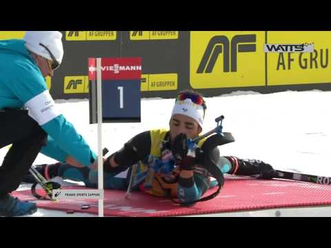 Watts zap !!! Martin Fourcade gives away his medal to a kid 2017