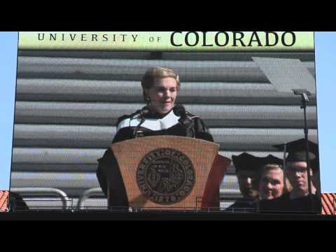 Julie Andrews Speaks at CU
