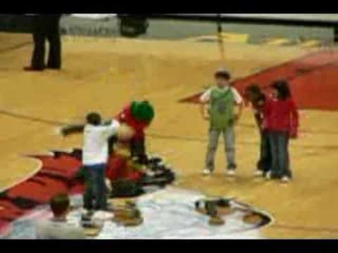 Kid Break Dancing At Hawks Game Video