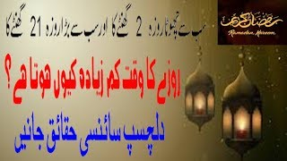 Ramzan Longest and shortest Fast Timing in world