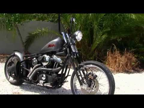 Used 2003 Harley-Davidson XL883 Custom Bobber Motorcycle for sale