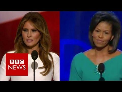 US election: Did Melania Trump copy Michelle Obama? BBC News